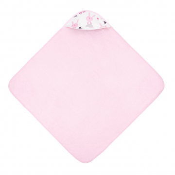 Bamboo baby towel Bunnies Pink