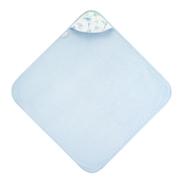 Bamboo baby towel Heavenly birds Blue