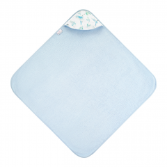 Bamboo baby towel Heavenly birds - Light blue