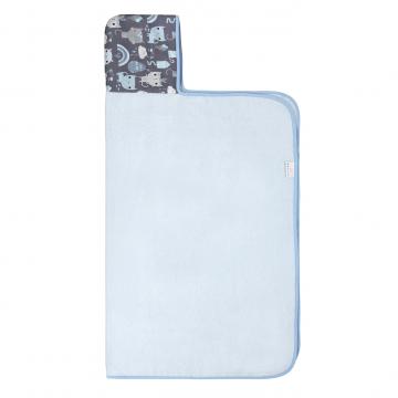 Ręcznik bambusowy z kapturem Indiana kot Błękit