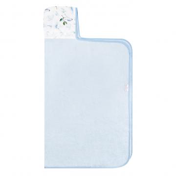 Ręcznik bambusowy z kapturem Niebiańskie ptaszki Błękit