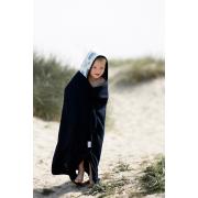 Bamboo hooded towel Grey owls grey
