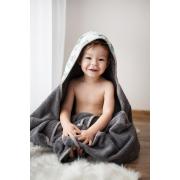 Ręcznik bambusowy z kapturem Smok'n'roll blue Szary
