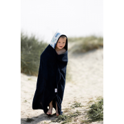 Bamboo hooded towel Wolves Grey