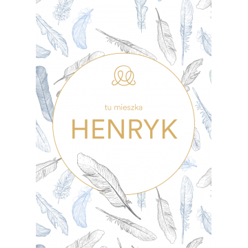 Personalized name poster - Heavenly feathers