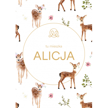 Personalized name poster - Fawns