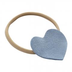 Headband Heart - beige-denim