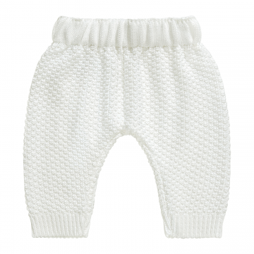 Knitted bamboo pants - pearl
