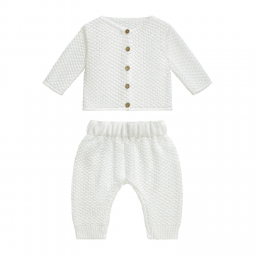 Knitted bamboo set Pearl