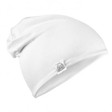 Bamboo reversible beanie Cream white-Light grey