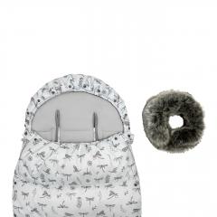 Winter stroller sleeping bagSNØ 0-2 yo - Dragonflies