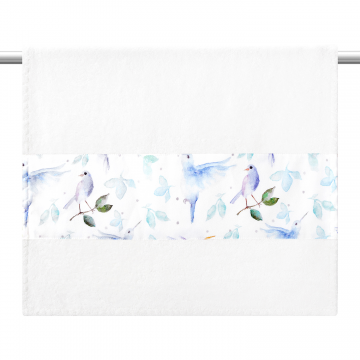 Bamboo bath towel 120x85 - Heavenly birds - cream