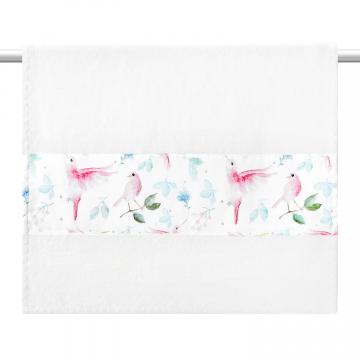Bamboo bath towel 120x85 - Heavenly feathers - grey