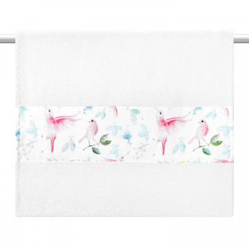 Bamboo bath towel 85x50 - Heavenly feathers - grey