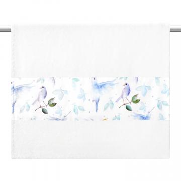 Bamboo bath towel 85x50 - Heavenly birds - cream