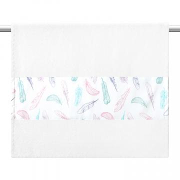 Ręcznik bambusowy kąpielowy 85x50 - Niebiańskie piórka - szary