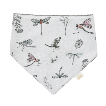 Bamboo bandana bib Heavenly feathers