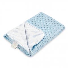 Light bamboo blanket - Heavenly feathers - light blue