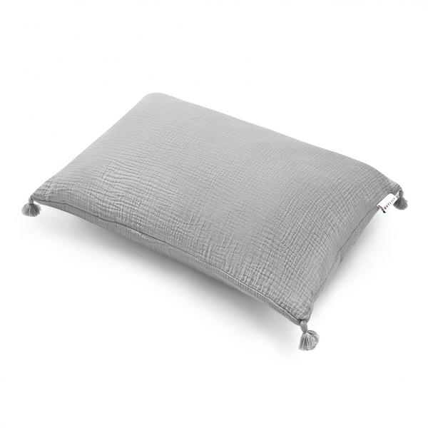 Muślinowa poduszka 60x50 Szary