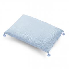 Poduszka muślinowa 60x50 - błękit