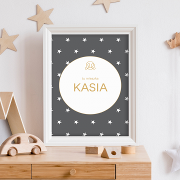 Personalized name poster - Stars