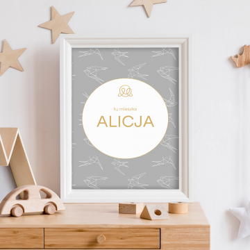 Personalized name poster - Swallows