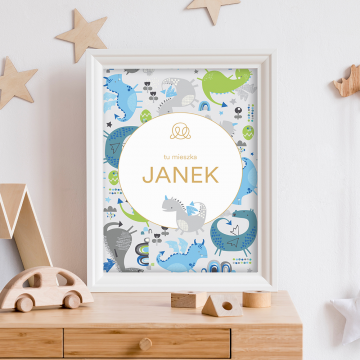 Personalized name poster - Smok'n'roll