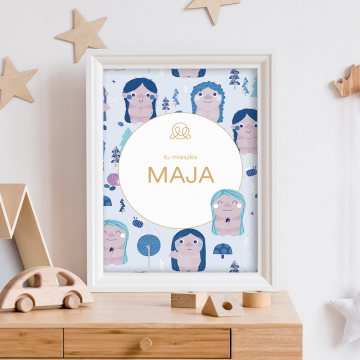 Personalized name poster - Trolls