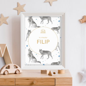 Personalized name poster - Star wolves