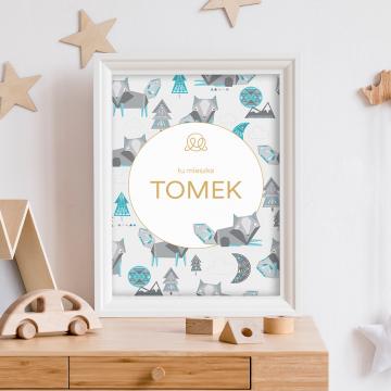 Personalized name poster - Srebrny kieł