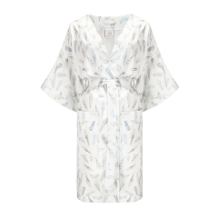 Bamboo kimono dressing gown - Heavenly feathers