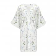 Bamboo Kimono bath robe - Paradise birds