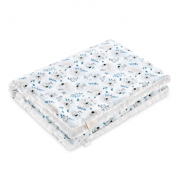 Warm bamboo blanket Luxe Paradise birds White