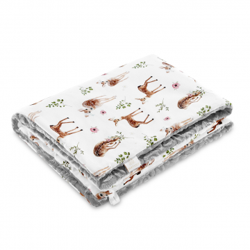 Luxe warm blanket Fawns - White