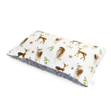Luxe fluffy pillow Fawns White
