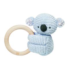 Rattle-teether Koala - light blue
