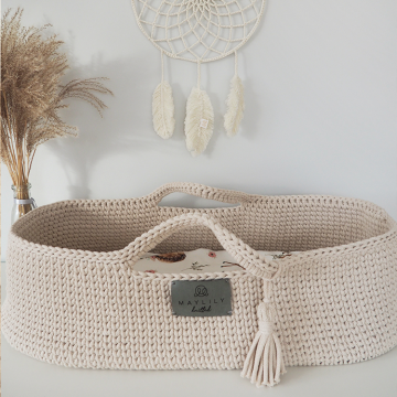 Moses basket - grey