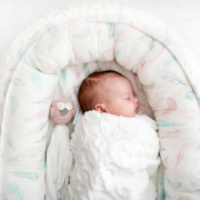 Baby nest Luxe Paradise feathers White