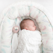 Luxe light blanket Paradise feathers White