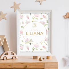 Personalized name poster - Magnolia