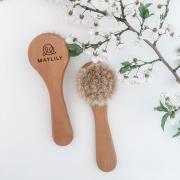 Baby hair brush - goat hair