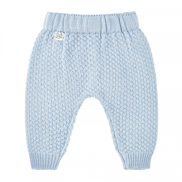 Knitted bamboo pants - Light blue
