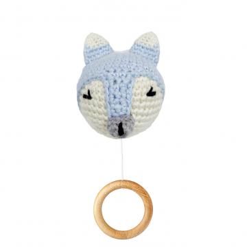 Music box Fox - light blue