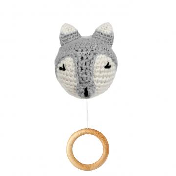 Music box Fox - grey