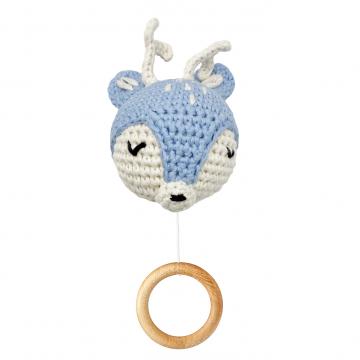 Music box Deer - light blue