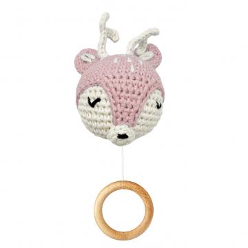 Music box Deer - dusty pink