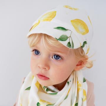 Bamboo visor scarf - Paradise feathers