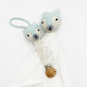 Pacifier clip Fox - mint
