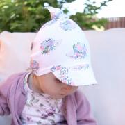 Bamboo visor scarf - Stones pink