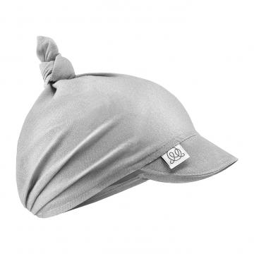 Bamboo visor scarf tied - grey